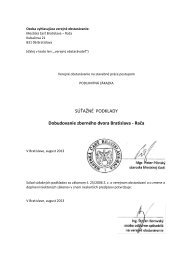 Súťažné podklady – Dobudovanie zberného dvora Bratislava - Rača