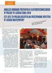 AnAlizA dokonAń przemysłu elektrotechnicznego w polsce w lAtAch ...