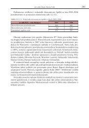 Podstawowe wielkości i wskaźniki ekonomiczne Spółki za lata 2005 ...