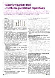 Trubkové výmenníky tepla – všeobecné prevádzkové ... - iDB Journal