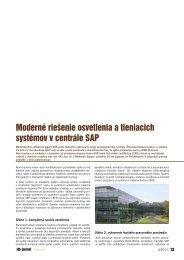 Moderné riešenie osvetlenia a tieniacich systémov v ... - iDB Journal