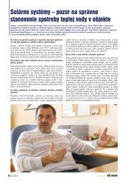 pozor na správne stanovenie spotreby teplej vody v ... - iDB Journal