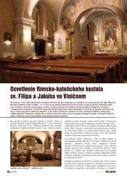 Osvetlenie Rímsko-katolíckeho kostola sv. Filipa a ... - iDB Journal
