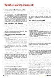 Využitie solárnej energie (2) - iDB Journal