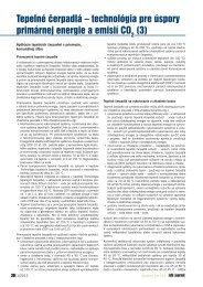 Tepelné čerpadlá – technológia pre úspory primárnej ... - iDB Journal