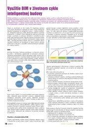 Využitie BIM v životnom cykle inteligentnej budovy - iDB Journal
