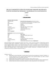 Zmluva o zabezpečení služieb pri centrálnom verejnom ... - Turany