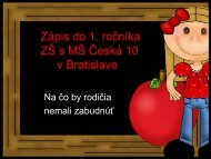 Zápis do 1. ročníka ZŠ - Základná škola s materskou školou Česká ...