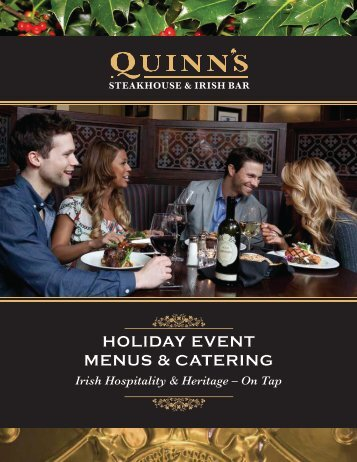 Holiday Event Menus (pdf) - Irish Embassy Hospitality Group