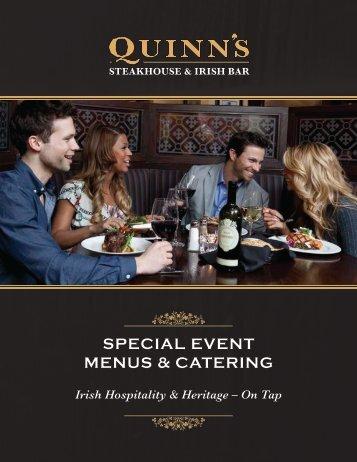 Special Event Menus (pdf) - Irish Embassy Hospitality Group