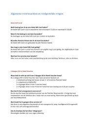 Algemene voorwaarden en veelgestelde vragen - Fletcher Hotels