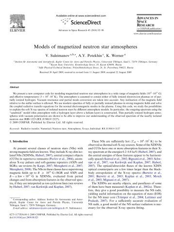 Models of magnetized neutron star atmospheres