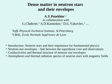 Dense matter in neutron stars and their envelopes