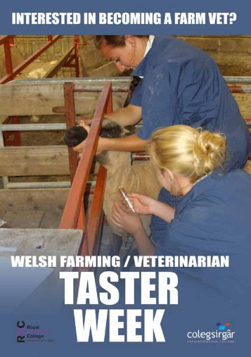 RVC Welsh Regional Centre: Farm Taster Week Application Form