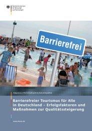 Barrierefreier Tourismus für Alle in Deutschland - BMWi