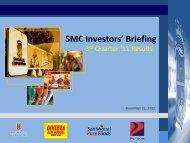 2011 3rd Quarter Results - San Miguel Corporation