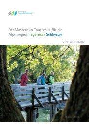 Der Masterplan Tourismus für die Alpenregion Tegernsee Schliersee