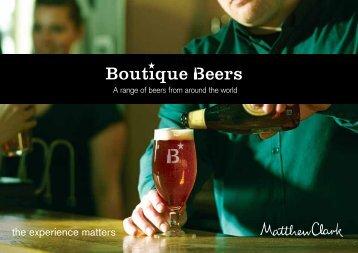 Download our Boutique Beers - Matthew Clark