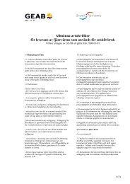 Allmänna avtalsvillkor för leverans av fjärrvärme som ... - GEAB