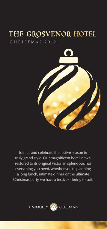 Join us and celebrate the festive season in truly ... - Fluid London