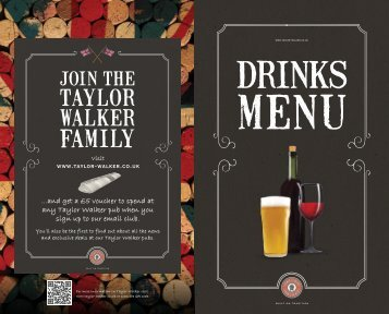 ..and get a £5 voucher to spend at any Taylor Walker pub when you ...
