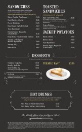 desserts hot drinks sandwiches toasted sandwiches jacket potatoes