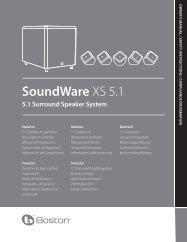 SoundWare XS 5.1 - Projekt Akustik