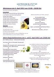 Weinmesse am 2. April 2011 von 12:00 - Globetrotter Reisen