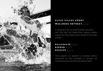 Download E-Brochure(PDF) - Alila Hotels and Resorts