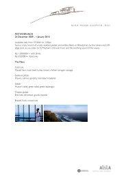 FESTIVE BRUNCH 25 December 2009 - Alila Hotels and Resorts