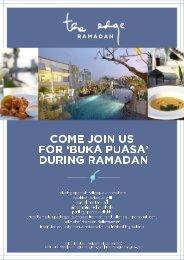 during ramadan - Alila Hotels and Resorts