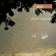 LEISURE CONCIERGE - Alila Hotels and Resorts