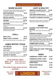 chicken burgers - The London Bar