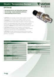 Druck / Temperatur-Sensor - Variohm EuroSensor