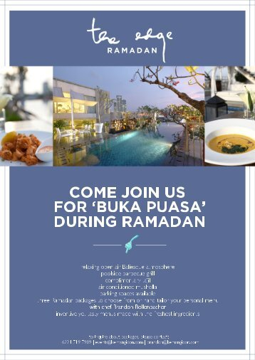 during ramadan - Alila Hotels and Resorts