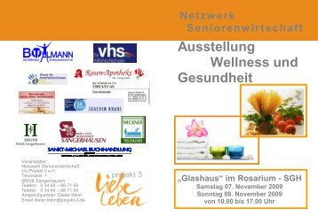 Ausstellung Wellness und Gesundheit - Projekt - 3 e.V.