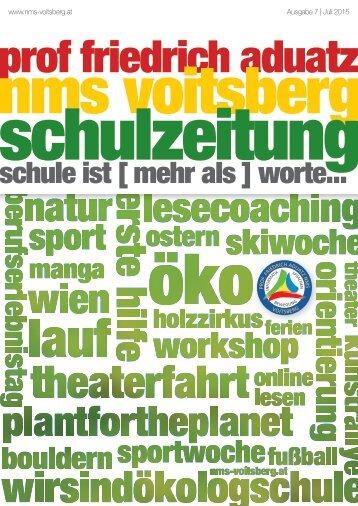 Schulzeitung - nms Voitsberg - Ausgabe 7