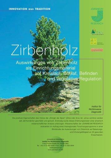 Zirbenholz - Studie Johanneum
