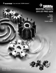 INDUSTRIAL PRODUCTS 2010 LIST PRICE GUIDE - SHURflo ...