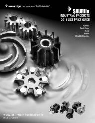 INDUSTRIAL PRODUCTS 2011 LIST PRICE GUIDE - SHURflo ...