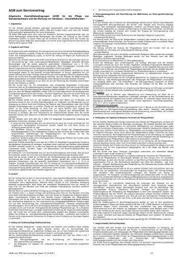 IT-Servicevertrag-AGBs