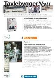 Tavlebygger nytt nr 1 2006 - Schneider Electric