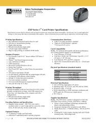 Zebra ZXP Series 1 Card Printer Specifications - discountid.com