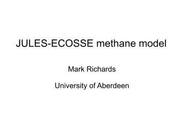 JULES-ECOSSE methane model