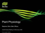 Plant Physiology - JULES