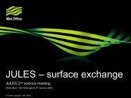 JULES – surface exchange