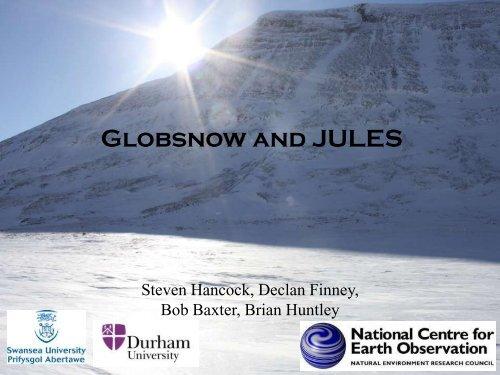 Globsnow and JULES