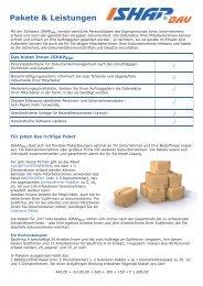 Pakete & Leistungen - ISHAP GmbH