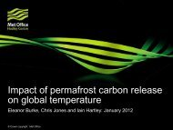Impact of permafrost carbon release on global temperature - JULES
