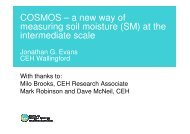 COSMOS – a new way of measuring soil moisture (SM) at ... - JULES
